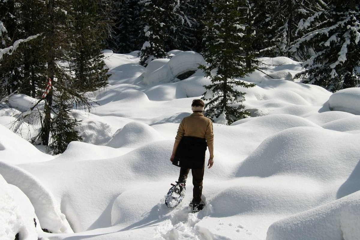 Snow-shoeing Winter